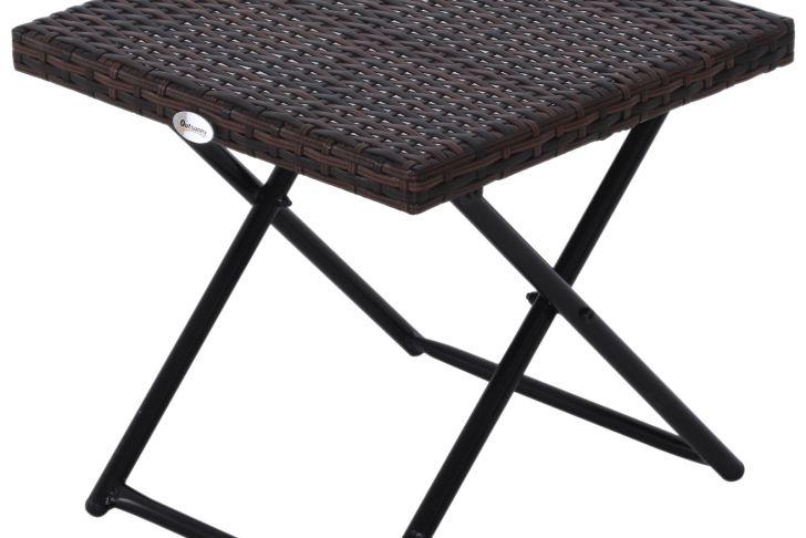 Table De Jardin Mosaique Unique Table Basse D Appoint Pliante Bidart Marron