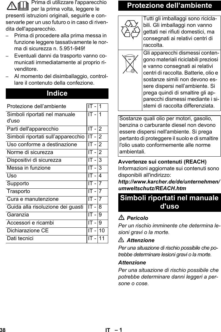 KarcherHds513UUxUsersManual User Guide Page 38