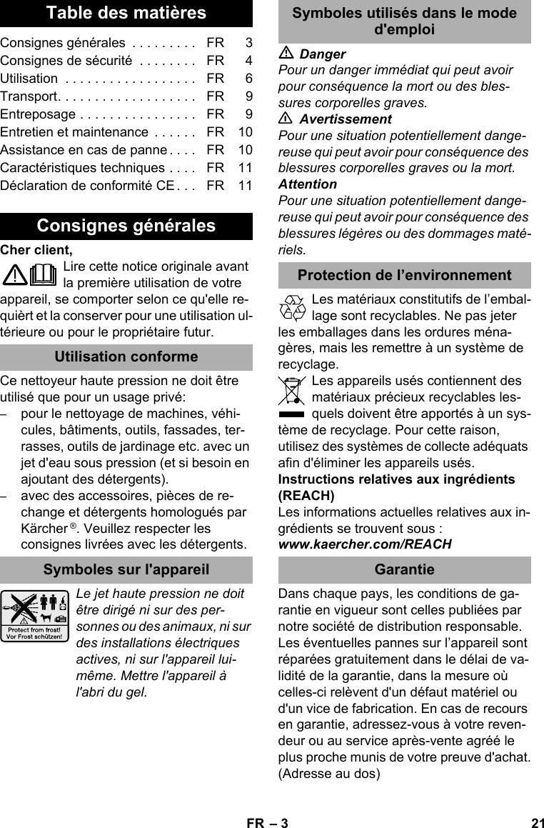 KarcherK3500Eu User Guide Page 21