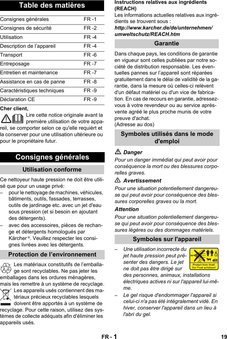 KarcherK5520 User Guide Page 19