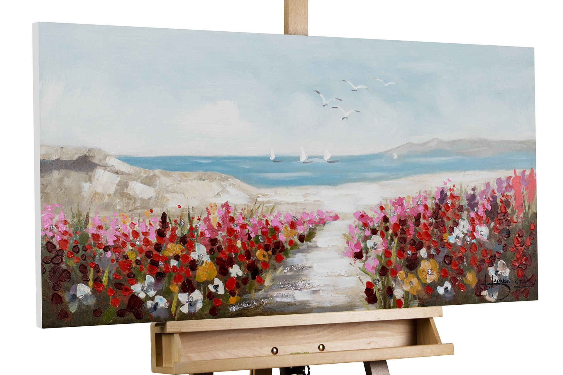 Table De Jardin Promo Beau Acrylic Painting Jardin De Playa 39×20 Inches Of 29 Génial Table De Jardin Promo