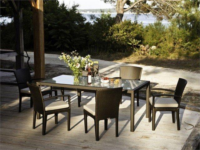 table jardin design forme materiau