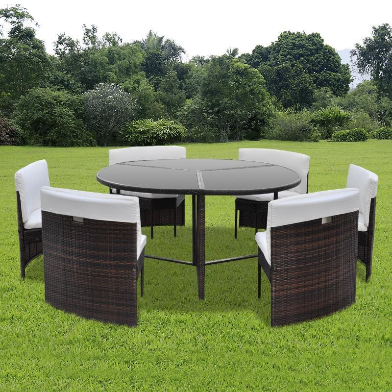 table de jardin ronde resine