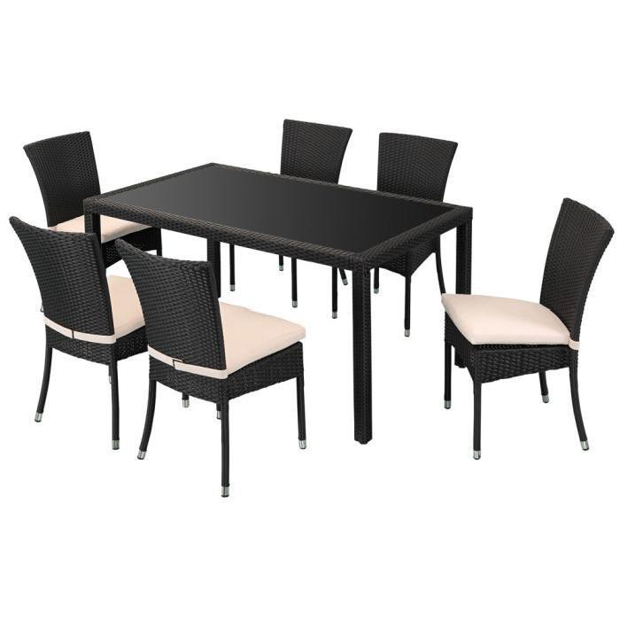 table resine tressee