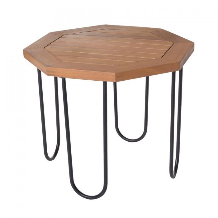 table basse de jardin hexagonal acacia salma