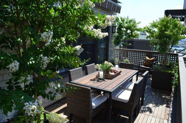 mobilier balcon terrasse moderne