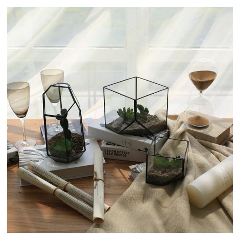 Verre terrarium Cube F e maison de jardin effet de serre flowerpot taille S