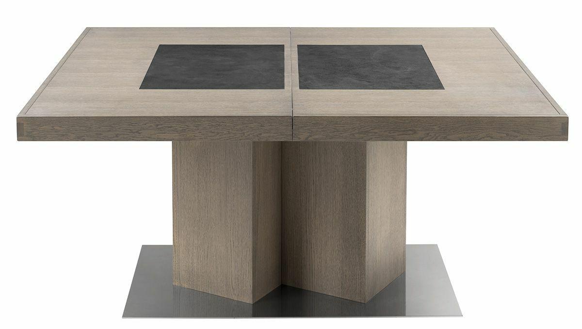 luxueux table carree avec rallonge