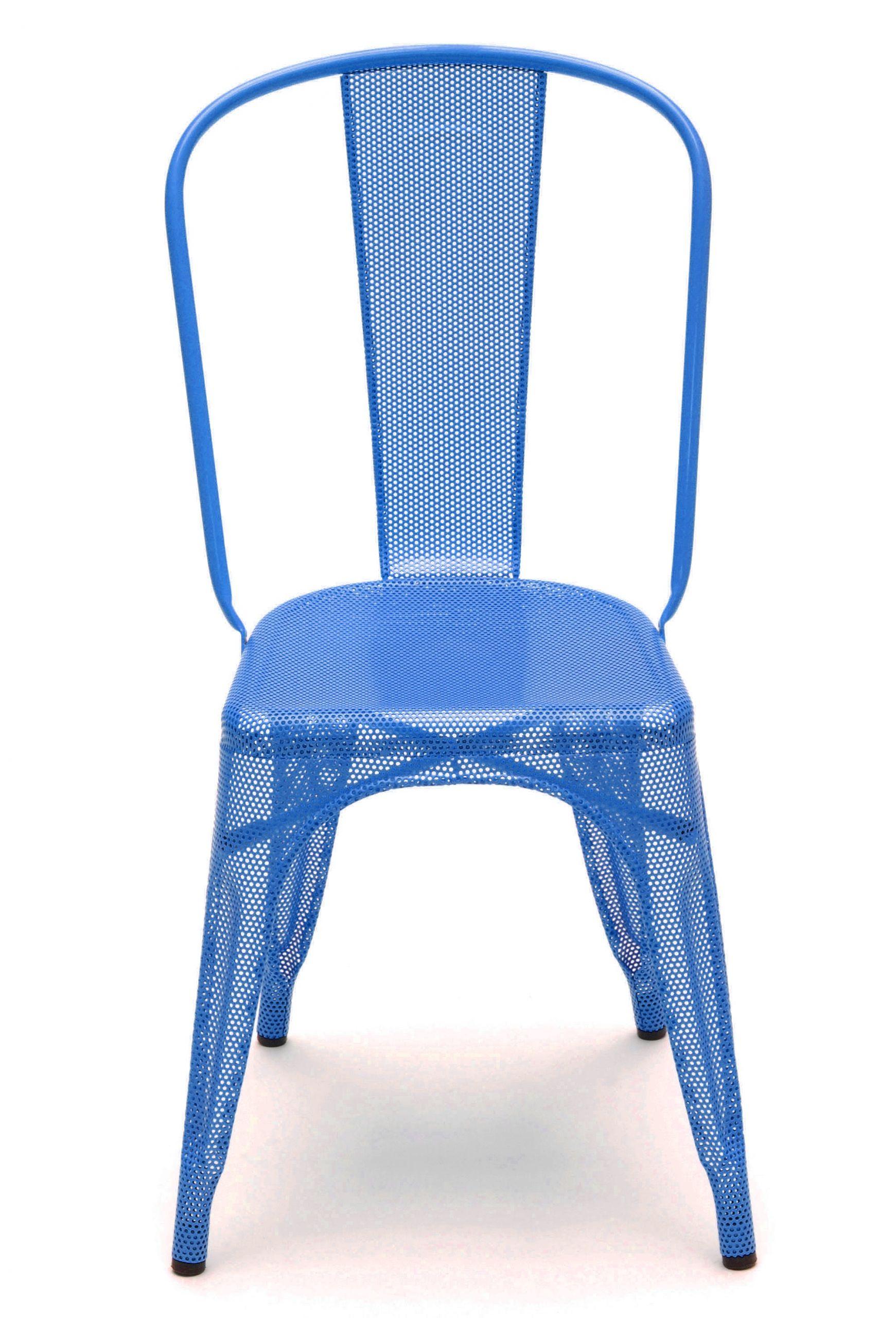 chaise a perforee de tolix acier laque bleu ocean 2