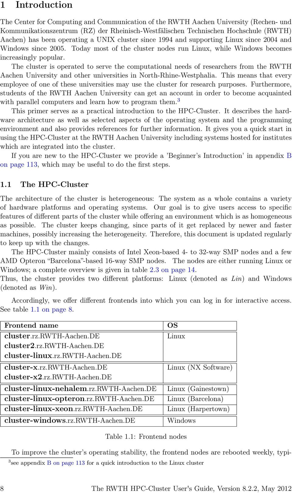 Table Extensible Alinea Génial the Rwth Hpc Cluster User S Guide Version Pdf Free Download Of 36 Unique Table Extensible Alinea