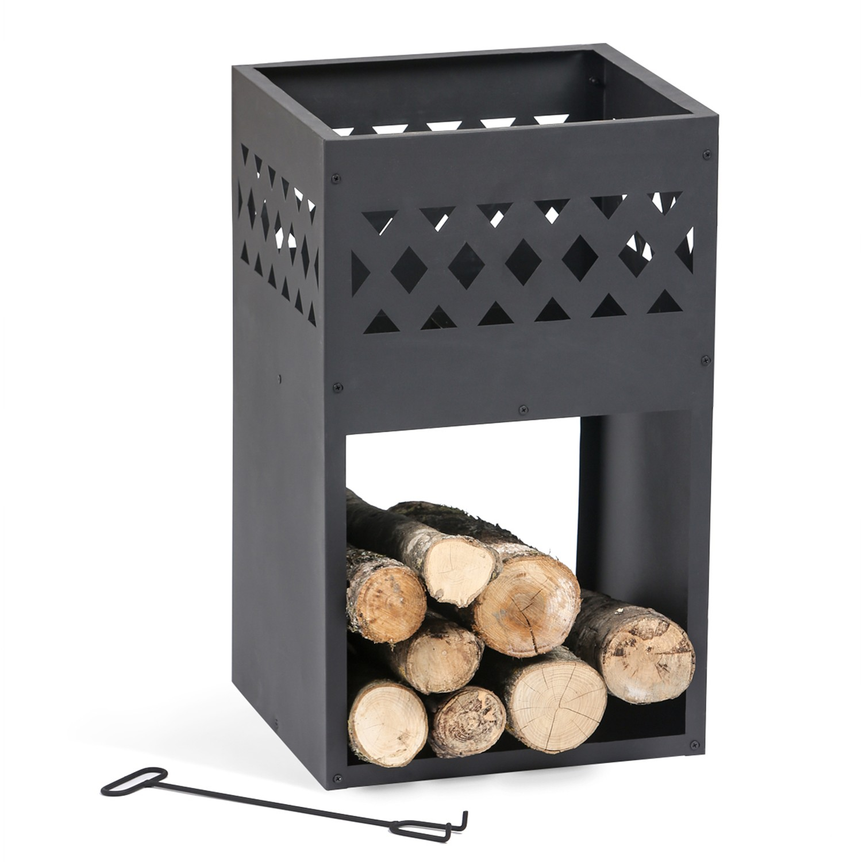 Table Extensible Exterieur Luxe Brasero De Jardin Chili En Acier Noir Idmarket