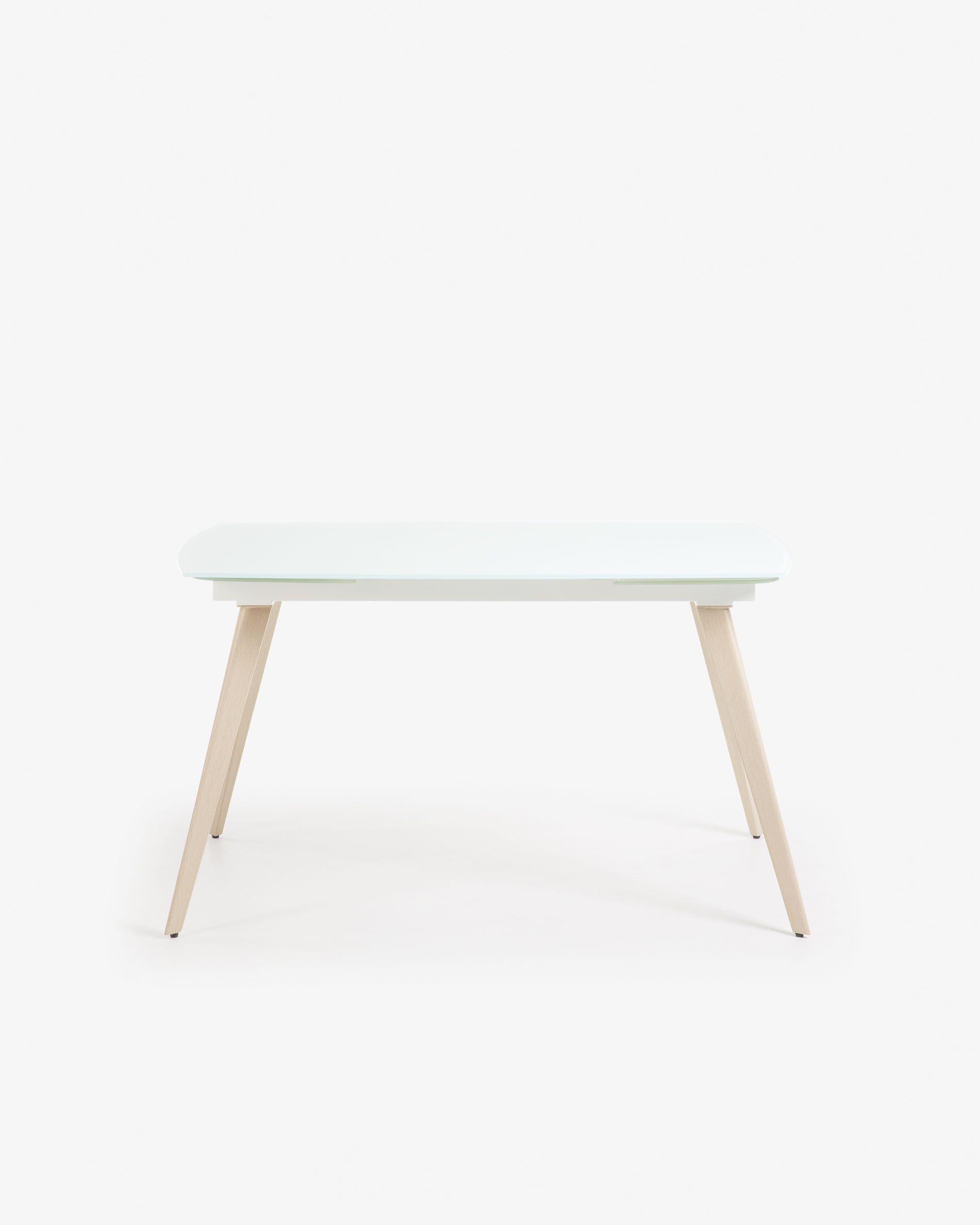 Table Extensible Exterieur Nouveau Table Extensible Smoth 120 180 X 80 Cm Blanc