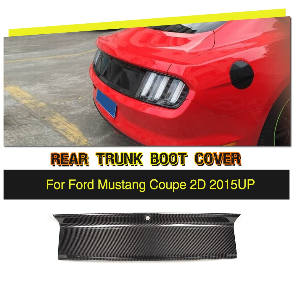 Voiture De Fiber De carbone Arrière Tronc Spoiler Couverture Garniture pour Ford Mustang Base Coupé 2015