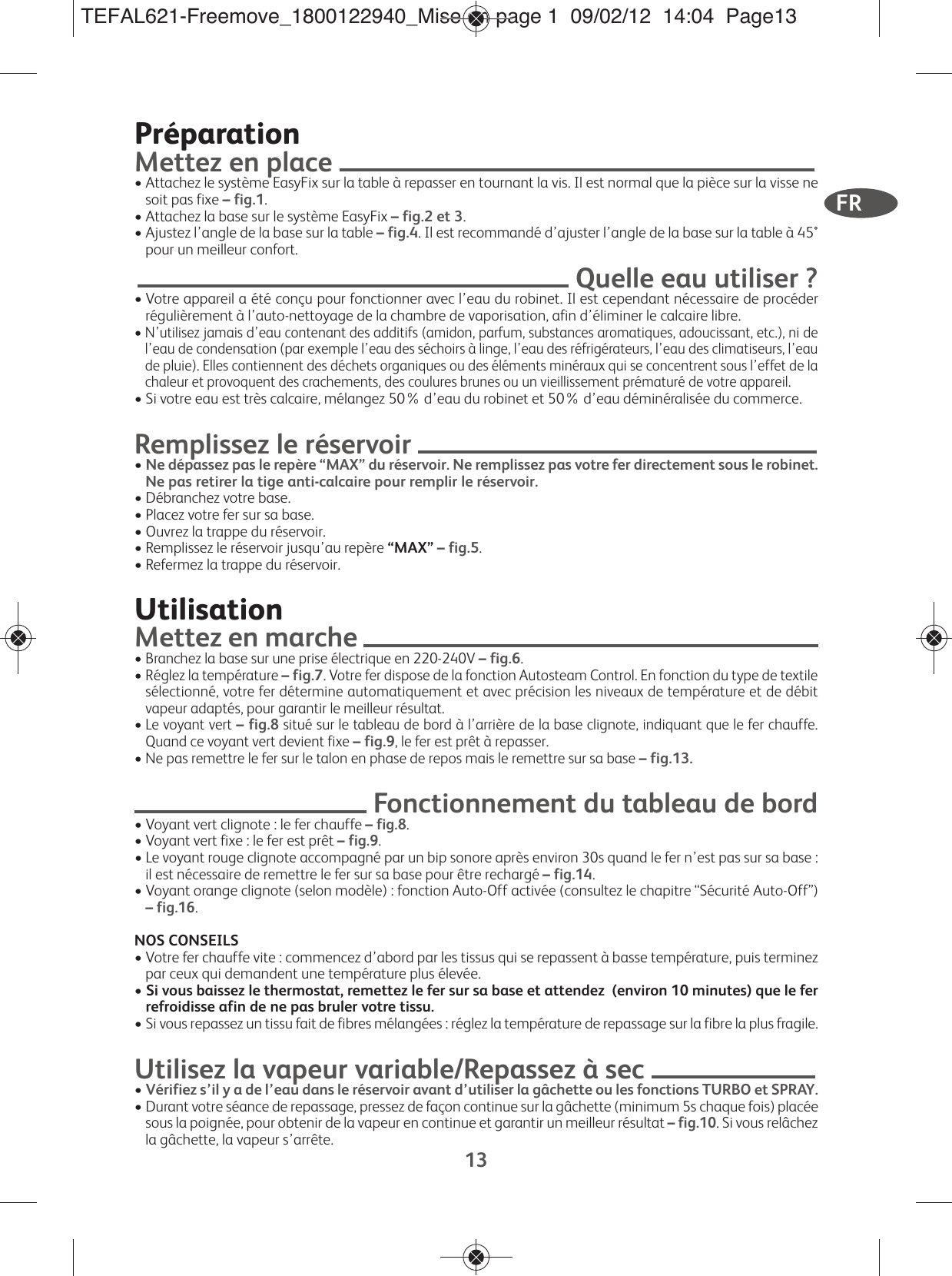 TefalFv9910C0InstructionManual User Guide Page 16