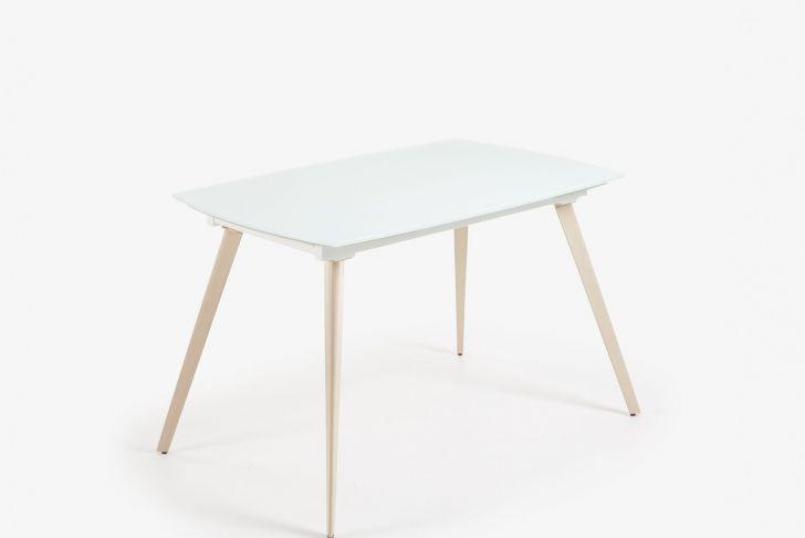 Table Haute Exterieur Frais Table Extensible Smoth 120 180 X 80 Cm Blanc