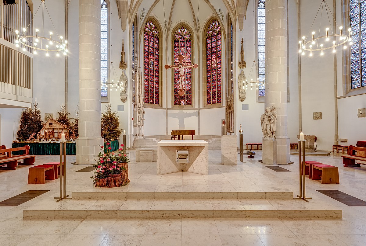 1200px Dülmen St Viktor Kirche Innenansicht Altar 2018 0552 6