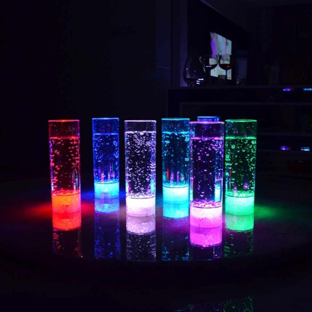 7 Couleurs changeantes Point Culminant LED Clignotant Verre De Jus 400 ml LED Boisson Tasse cologique