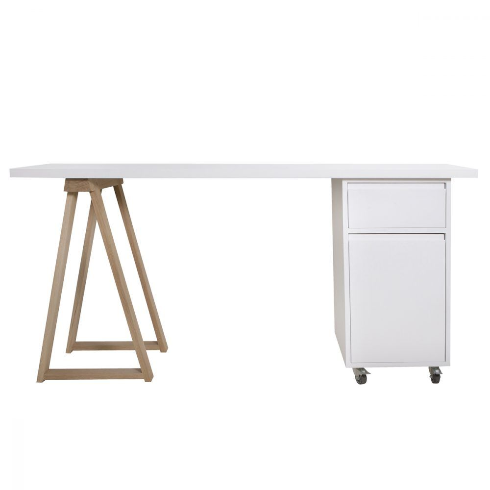 Table Pour Petit Espace Charmant White top Oak Trestle Leg and Trestle Cube with Drawer and Of 29 Nouveau Table Pour Petit Espace