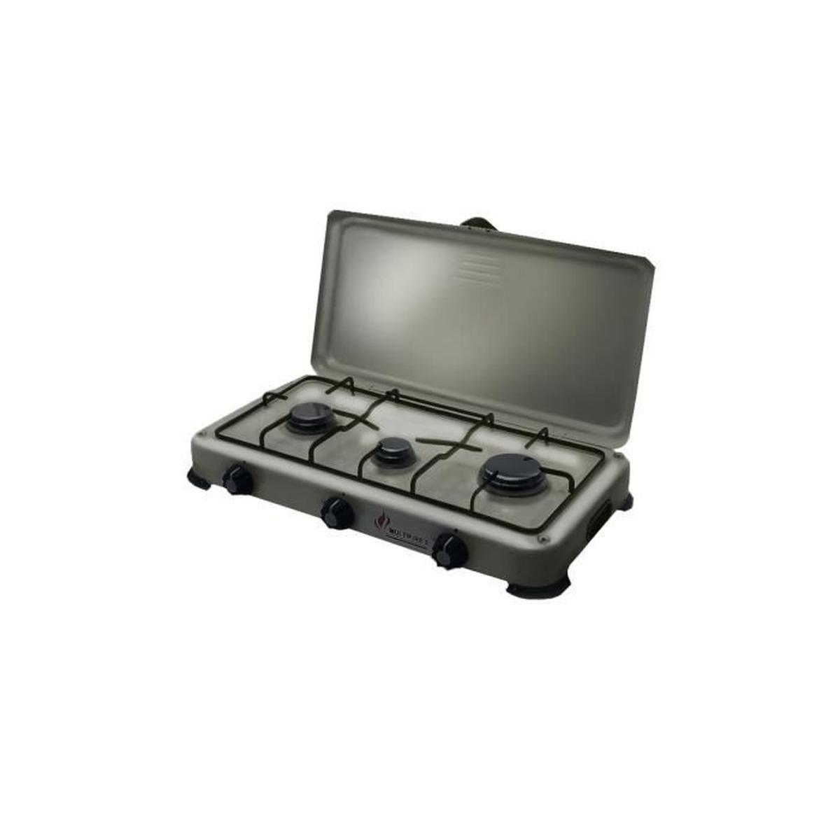 table de cuisson gaz portable 3 feux 4100w silver