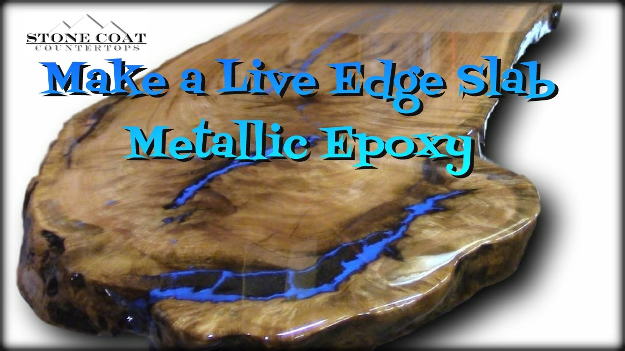 Table Resine Élégant Live Edge Slab Table How to Coat and Finish with Blue Metallic Of 33 Inspirant Table Resine