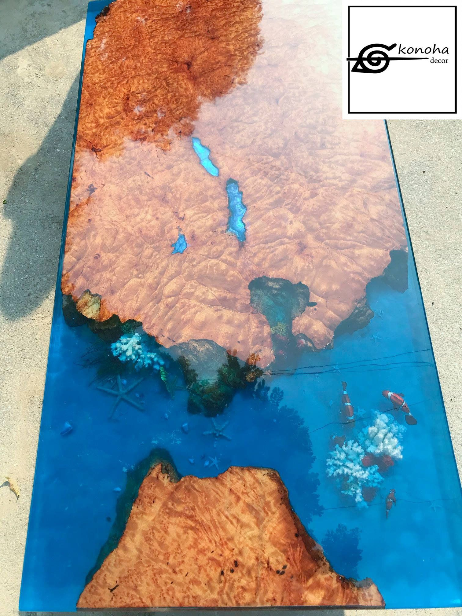 Table Resine Nouveau Epoxy Resin Transparent Coffee Table Handcrafted Custom 3d Of 33 Inspirant Table Resine