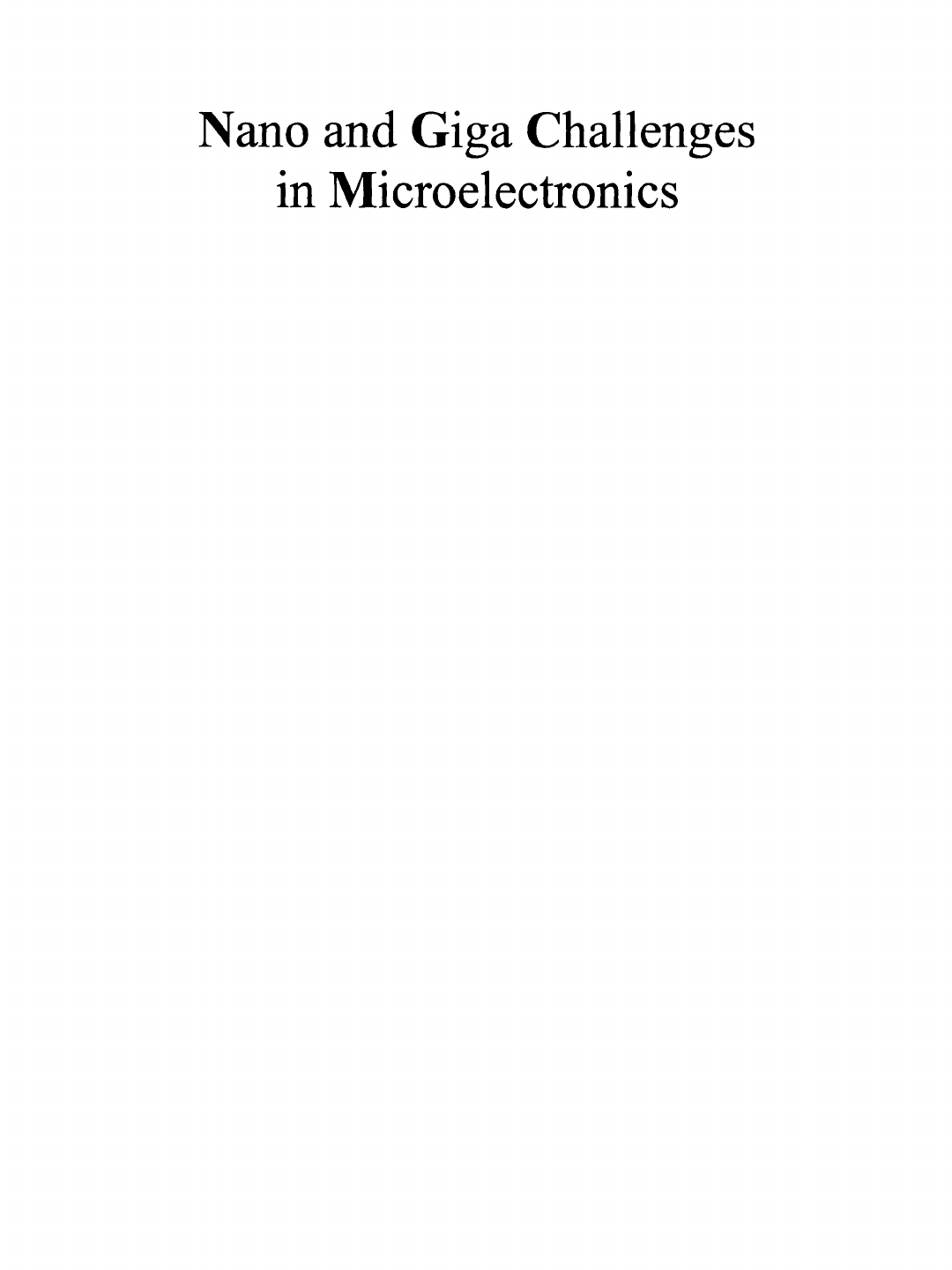 Table Resine Tressee Frais Nano and Giga Challenges In Microelectronics [pdf Document] Of 40 Luxe Table Resine Tressee