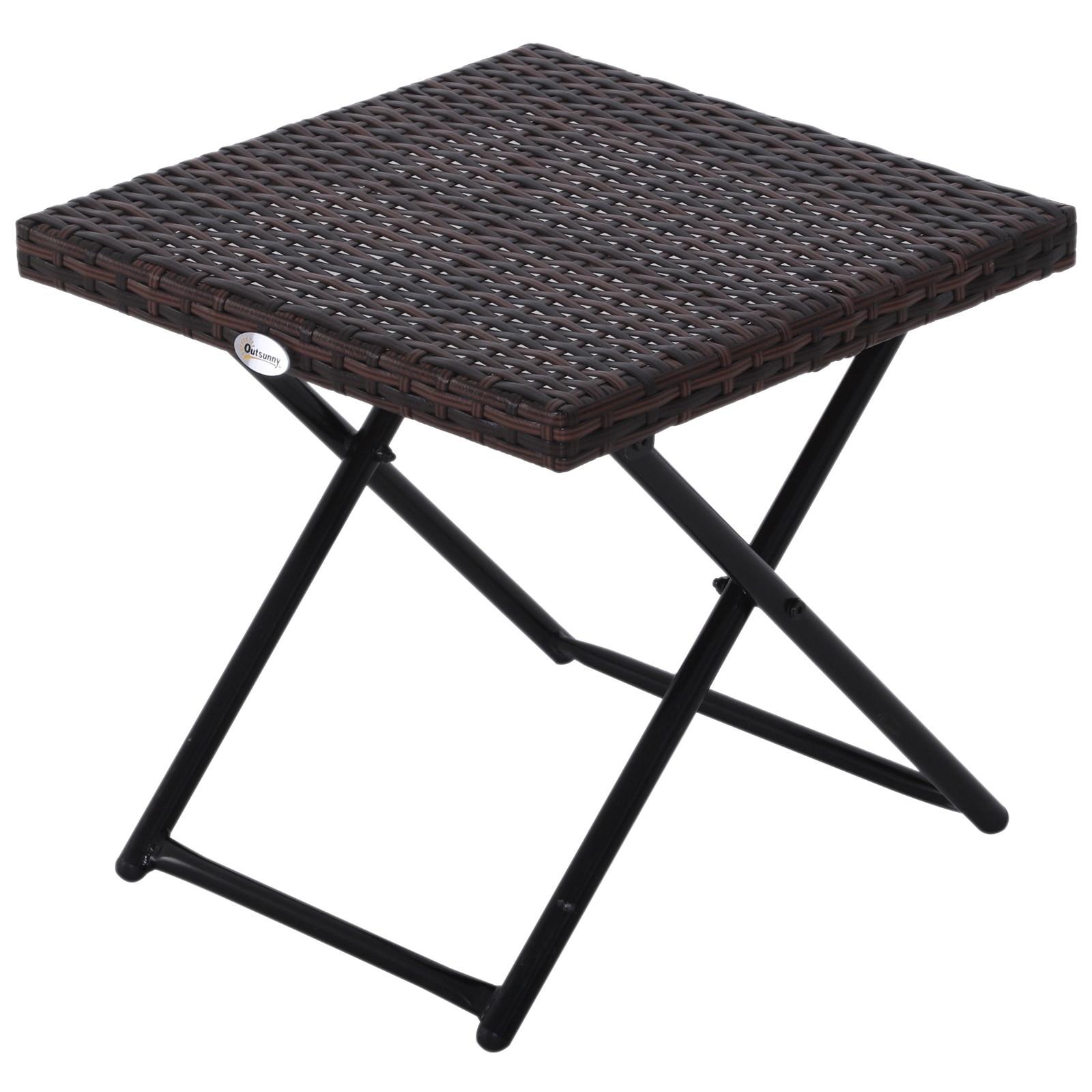 table basse d appoint pliante bidart marron