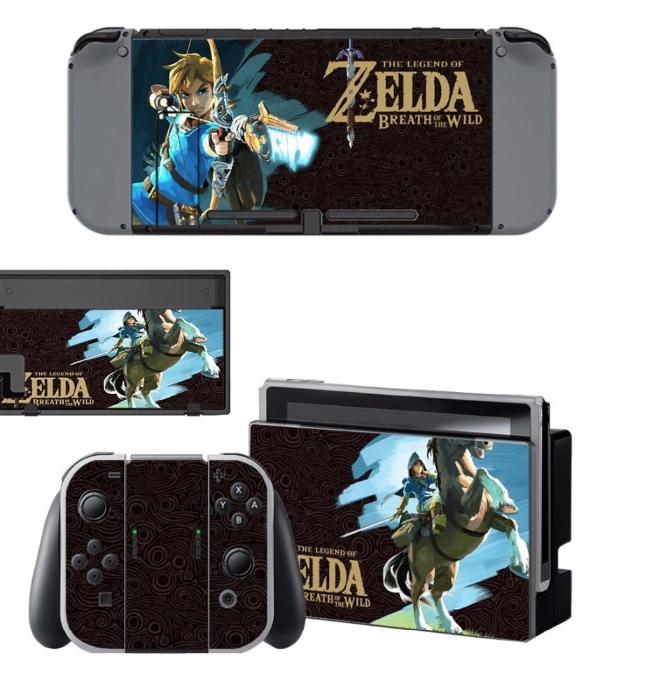 Nintend Switch Vinyl Skins Sticker For Nintendo Switch Console and Controller Skin Set For The Legend