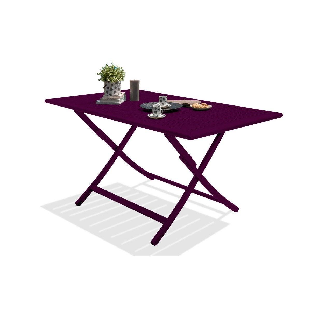Table Roulante De Jardin Frais Table De Jardin De Repas Marius Rectangulaire Aubergine 4 6