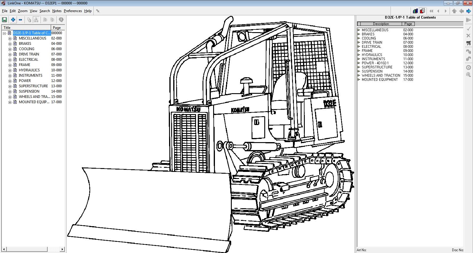 Komatsu Link e Parts Catalogue EPC USA fline 1