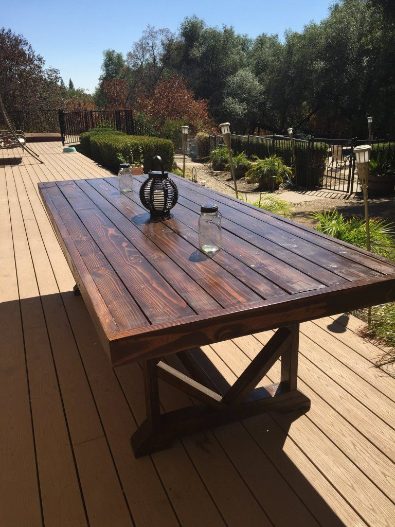 Table Terrasse Bois Génial Diy Outdoor Dining Table In 2019 Of 37 Élégant Table Terrasse Bois