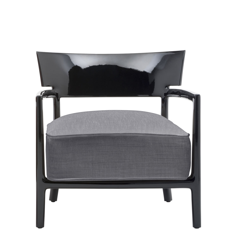 fauteuil cara solid color noir tissu anthracite madeindesign original