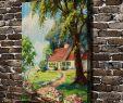 Vente Flash Salon De Jardin Nouveau € 6 33 De Réduction A1542 Belle Maison Arbre Jardin Paysage Hd toile Impression Décoration De La Maison Salon Chambre Mur Photos Art Peinture