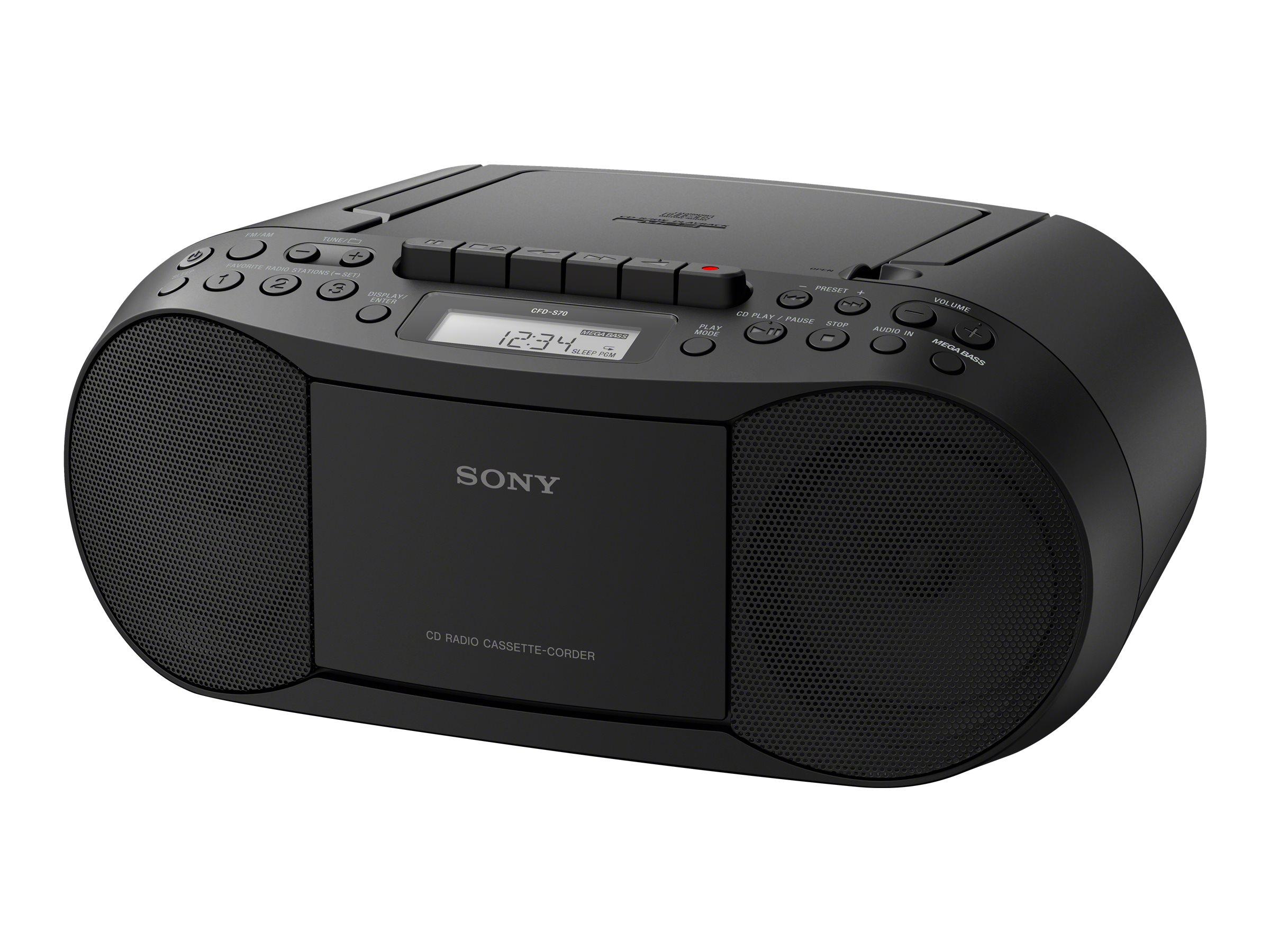 Voyage Avec Leclerc Élégant Radio Cd sony Radio Cd Noire Cfd S70w