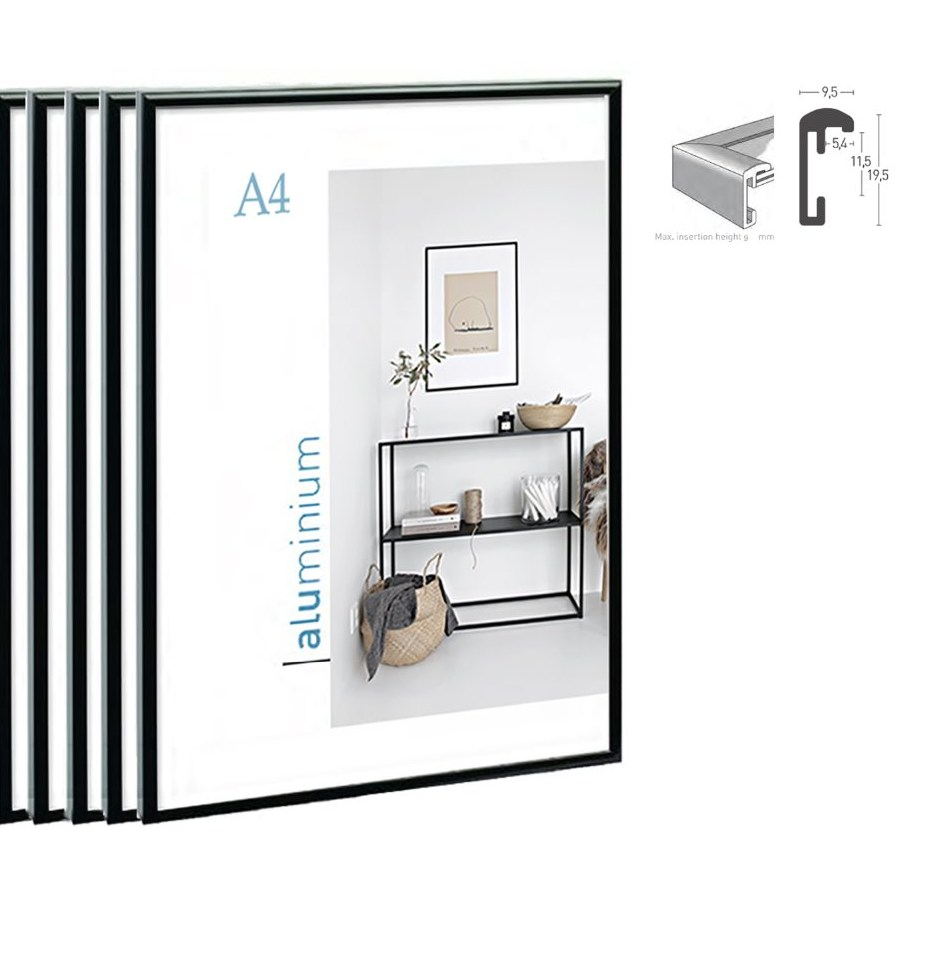 5pcs bundle pack classic super narrow aluminum A4 poster font b frame b font for wall