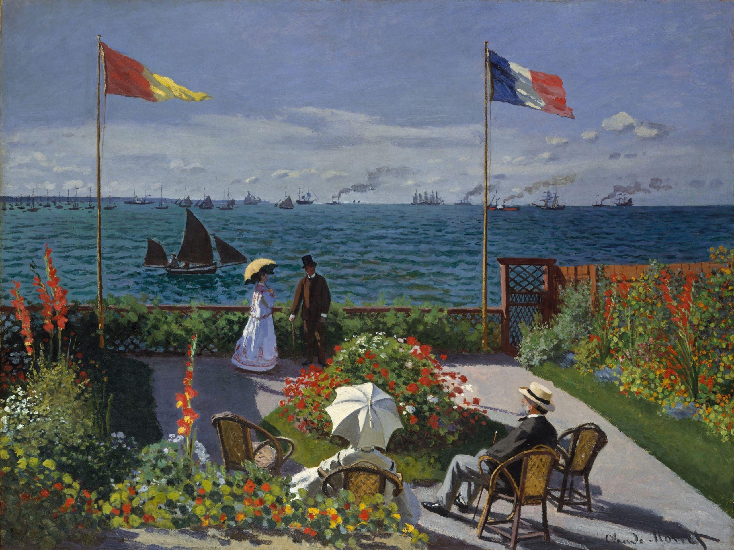 Claude Monet Jardin à Sainte Adresse
