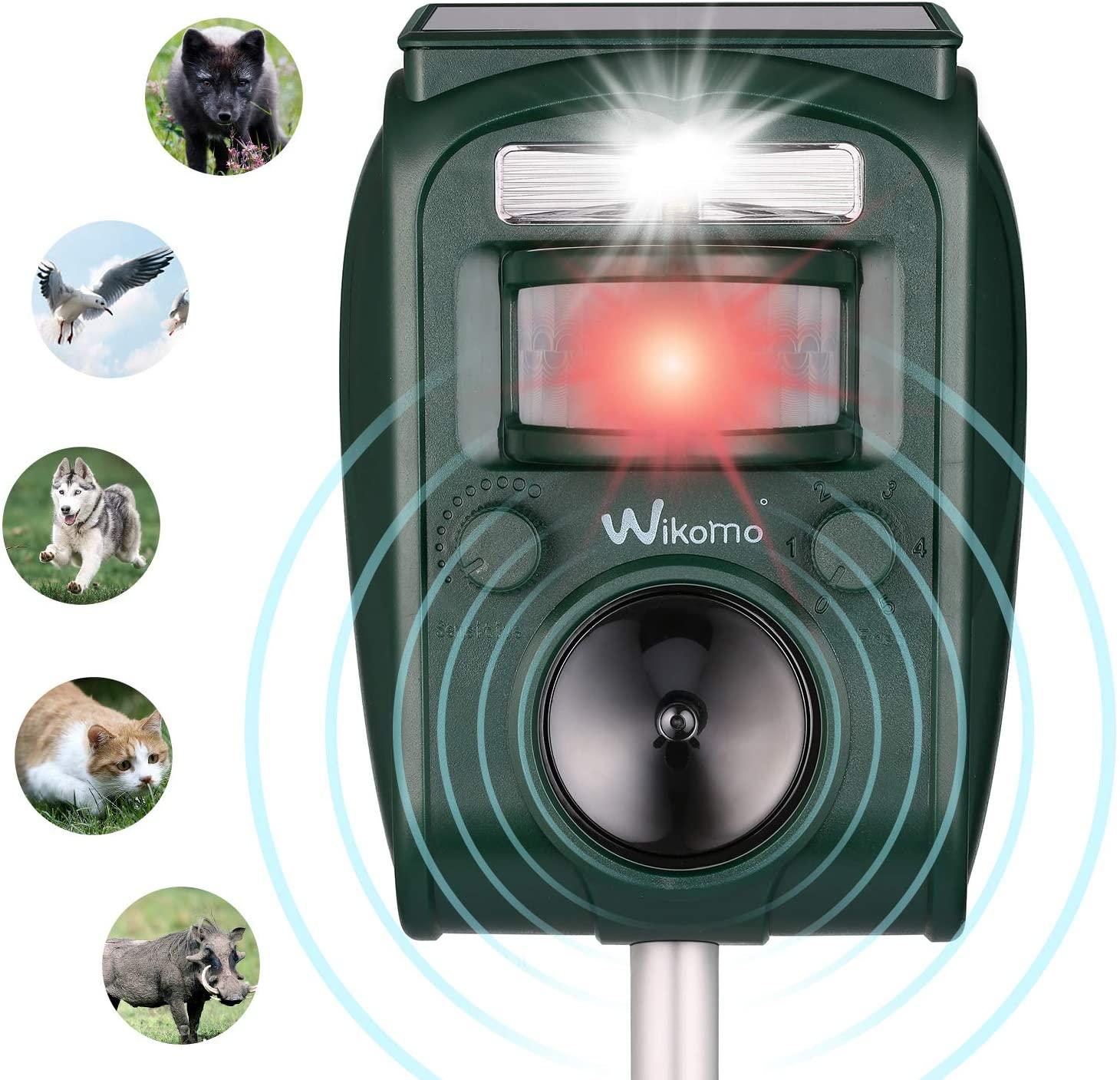 Alarme Exterieur Pour Jardin Beau Répulsif Chat Ultrason solaire Repulsif Chat Exterieur Sensibilité Et Fréquence Réglable Ultrason Chat Pour Repousser Animaux Nuisibles Des écureuils