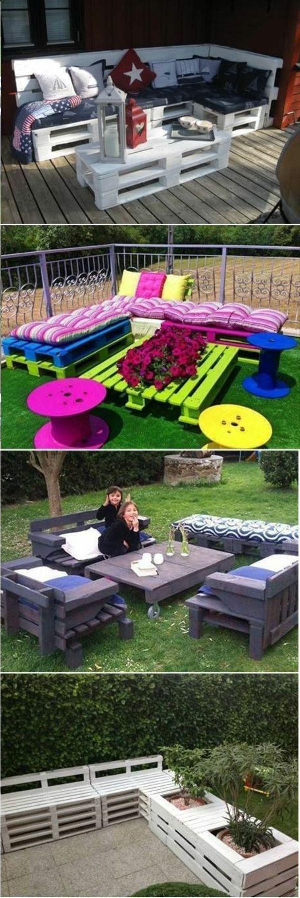 tables de jardin en palettes color C3 A9s id C3 A9e insolite meubles en palettes