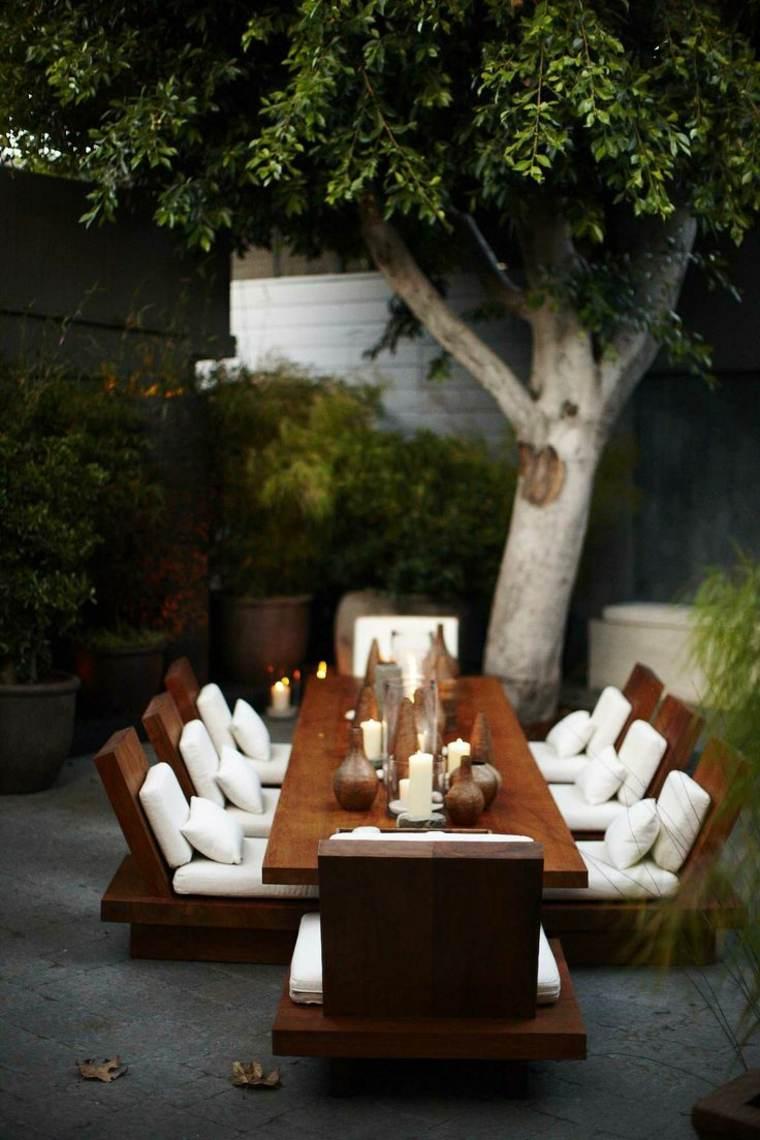 jardin zen mobilier bois japonais