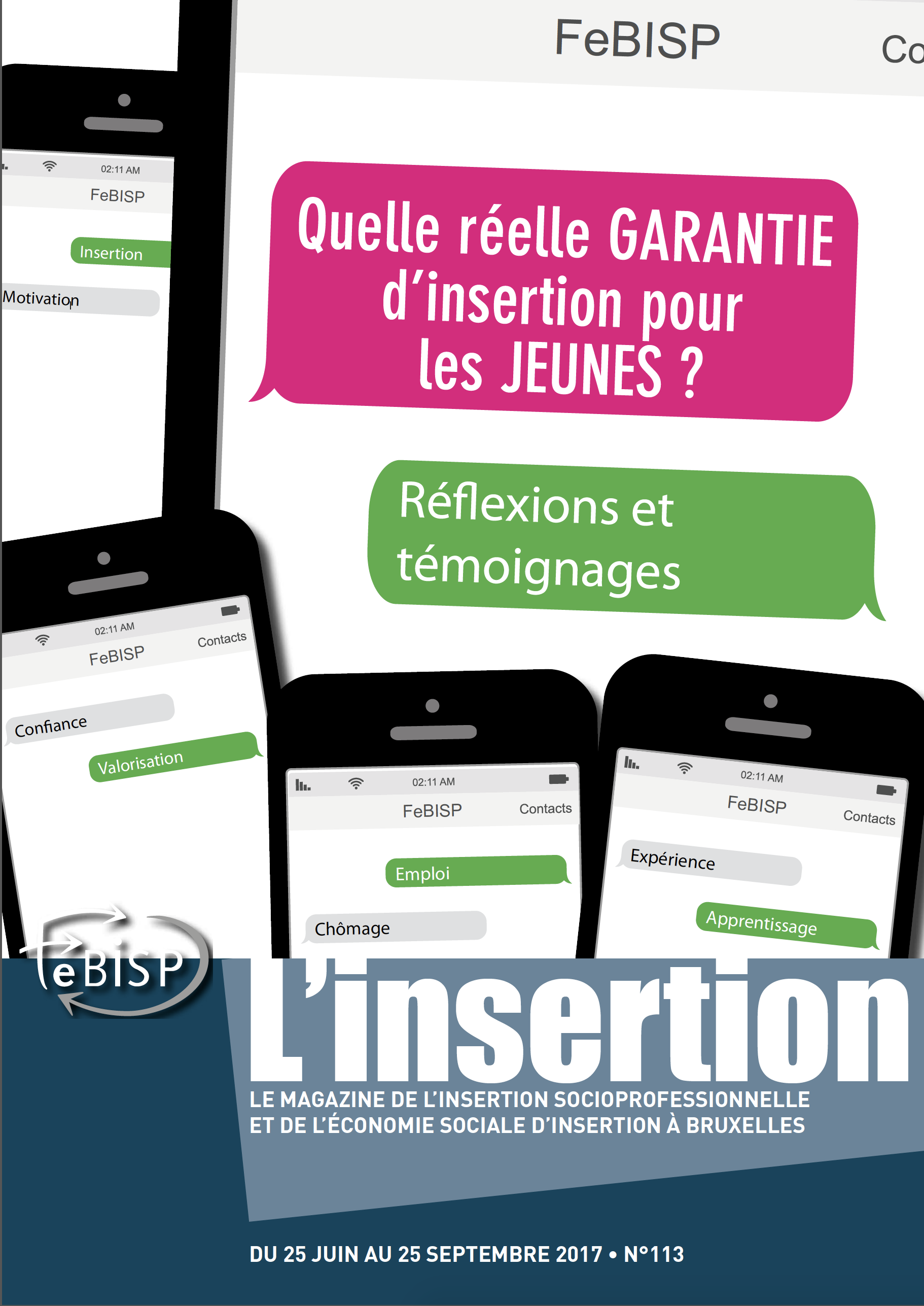 couverture insertion 113