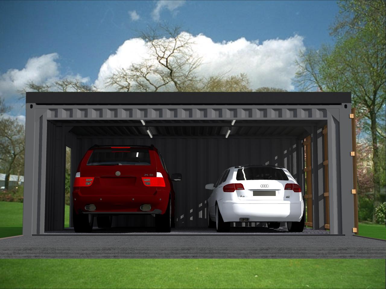 vue projet garage container 2
