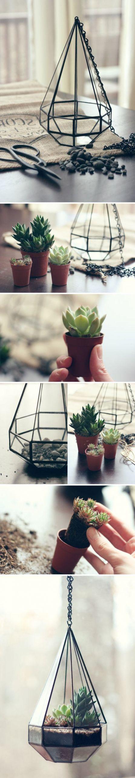 un joli tutoriel pour un terrarium plante suspendu id C3 A9e tr C3 A8s sympa ment fabriquer un terrarium