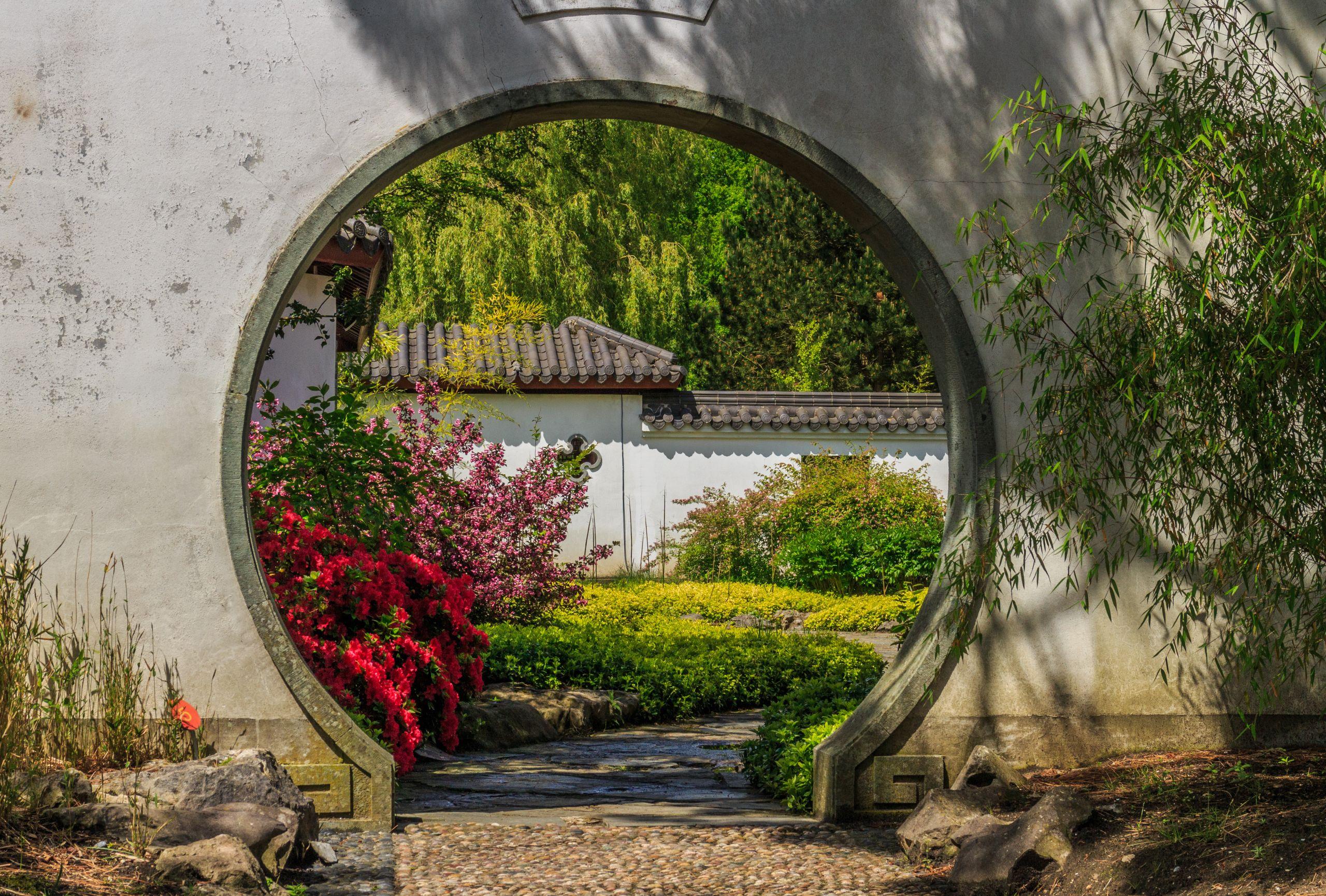 Doorgang in muur Locatie Chinese tuin Het Verborgen Rijk van Ming Locatie Hortus Haren 01