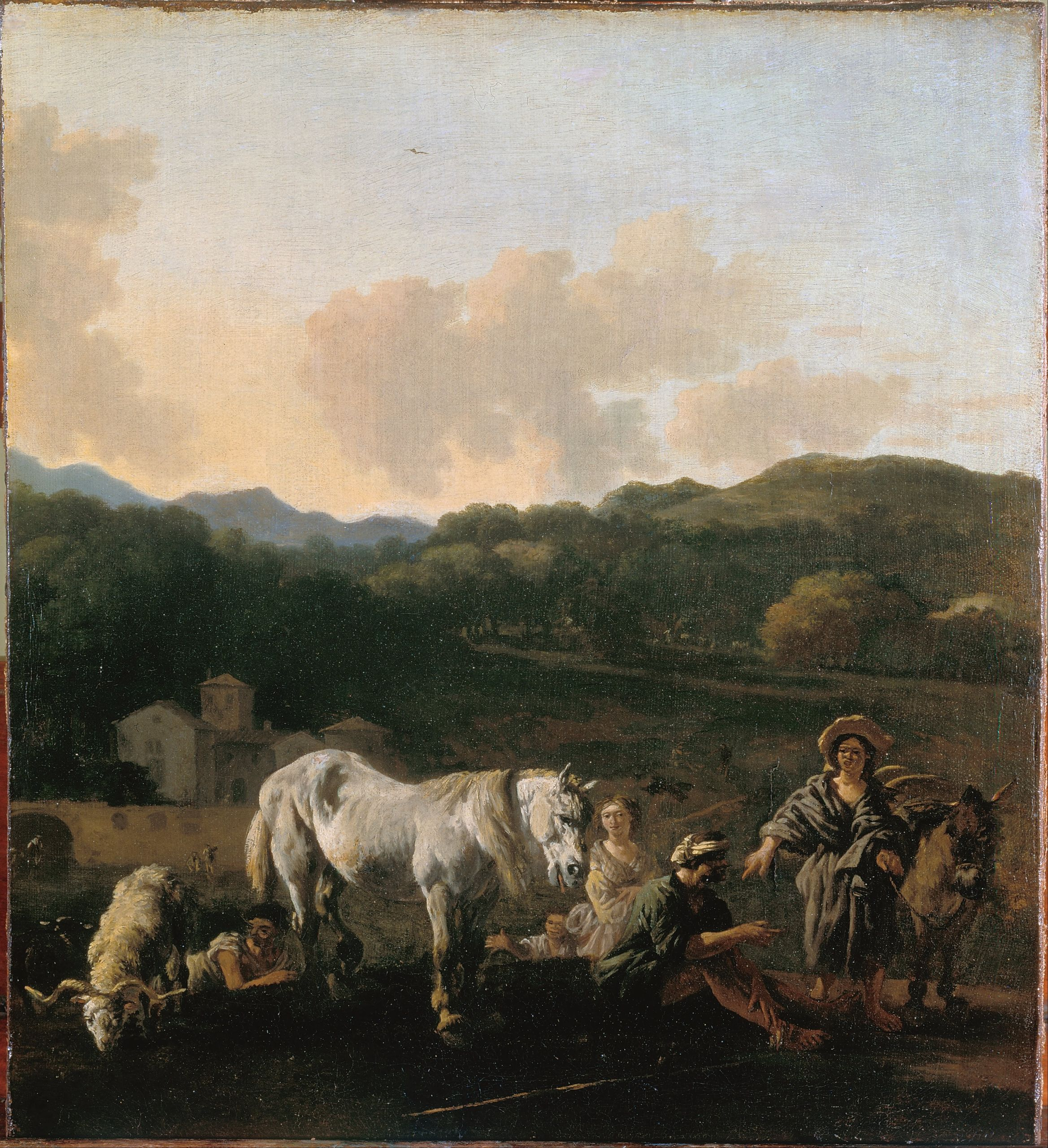 Du Jardin Karel Peasants and a White Horse Google Art Project
