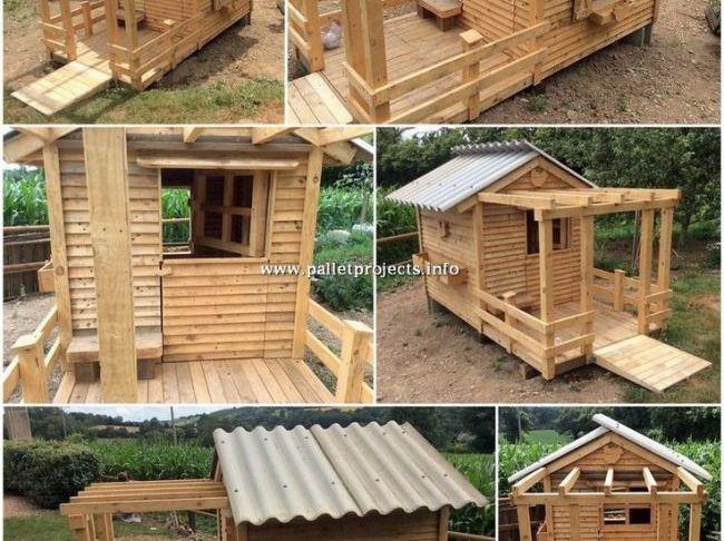 Cabane De Jardin En Palette Unique Diy Pallet Garden House Plan En 2020
