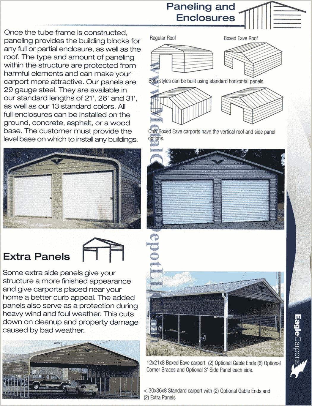 Metal Carport & Building Paneling & Enclosure Information min