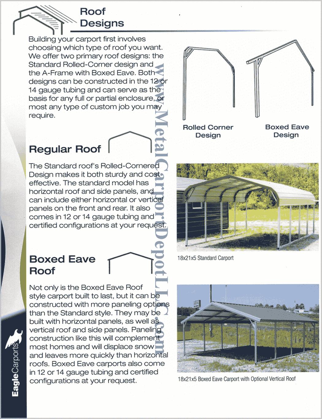 Metal Carport & Building Roof Designs Information min