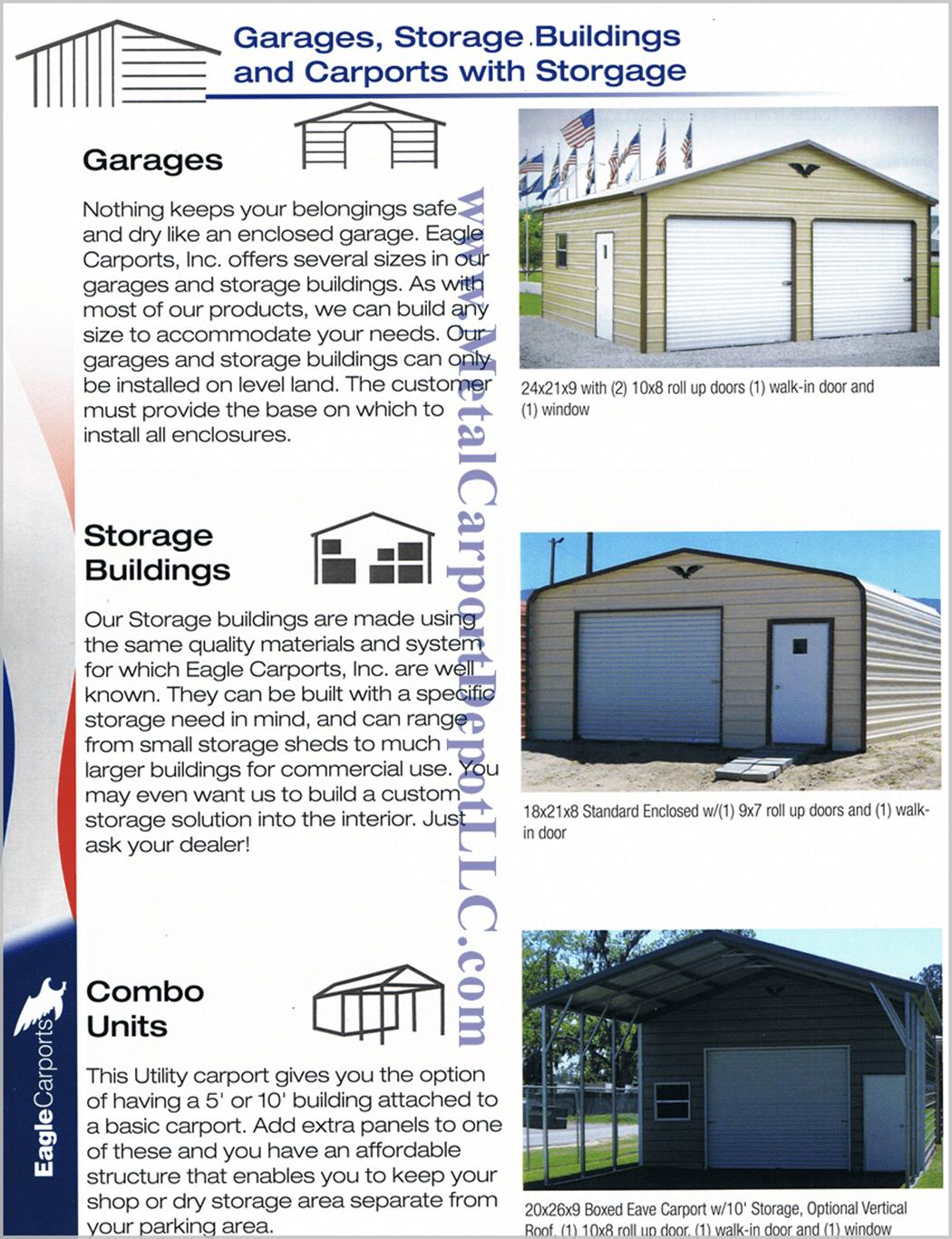 Enclosed Garages Metal Carports With Storage Information min