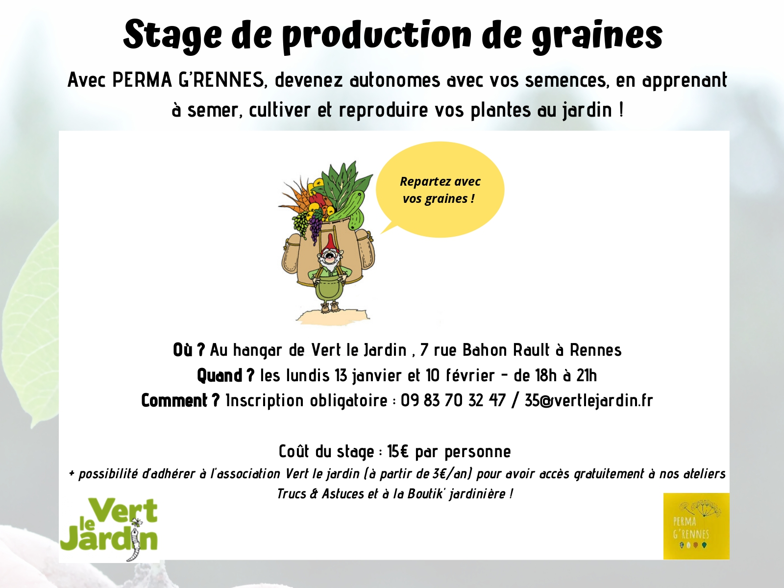 stage de production de graines 2020 2