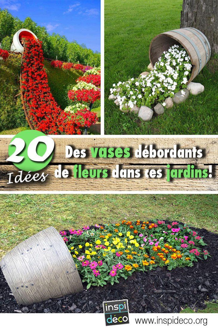 Conception Jardin Nouveau Des Vases Débordants De Fleurs Dans Ces Jardins 13 Idées